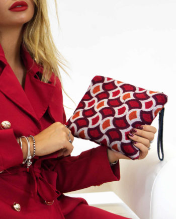 clutch-pochette lana-optical-rosso-apiedinudinelparco-bologna-2